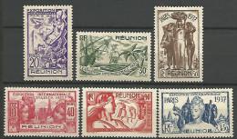 REUNION  SERIE EXPO 1931 N� 149/152 NEUF* TB
