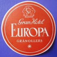 HOTEL PENSION HOSTAL EUROPA EUROPE GRANOLLERS BARCELONA SPAIN LUGGAGE LABEL ETIQUETTE AUFKLEBER DECAL STICKER Madrid - Hotel Labels