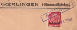 R558 - Entête Française MAIRIE DE GOERLINGEN (BAS RHIN ) Utilisée En Moselle - 1940 - Hindenburg Surchargé Lothringen - - Elsass-Lothringen