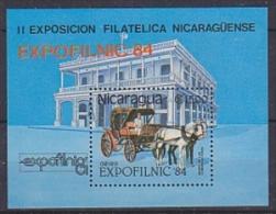 Nicaragua 1984 Philaztelic Exhibition / Expofilnic M/s ** Mnh (18159) - Nicaragua