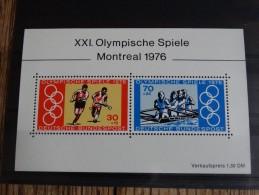 Allemagne-Répunlique Fédérale D´Allemagne-1976-Michel:block 12-neuf** - Ete 1976: Montréal