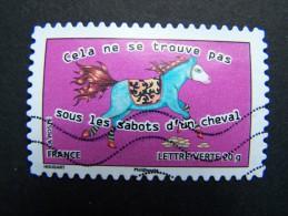 FRANCE OBLITERE 2013 N°799 CELA NE SE TROUVE PAS SOUS LES SABOTS D´UN CHEVAL SERIE CARNET SOURIRES SAUTER DU COQ A L´ANE - France