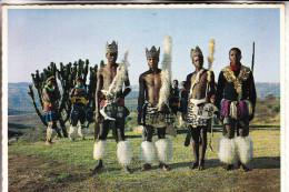 SOUTH AFRICA / SÜDAFRIKA, Male Zulu Dancers, Ethnic / Völkerkunde, Postmark Mocambique, 1975 - Südafrika