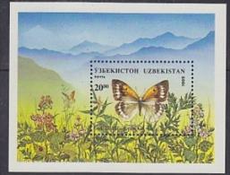 Uzbekistan 1995 Butterflies M/s ** Mnh (18161) - Papillons