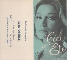 A.Immédiat Carte Parfumée Ancienne PARFUM D´ ETE VARIANTE   PIVER  Calendrier  1964 - Cartas Perfumadas
