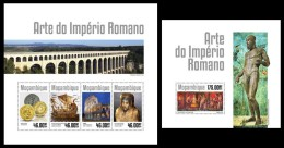 MOZAMBIQUE 2014 - Roman Empire. M/S + S/S Official Issue - Archeologie