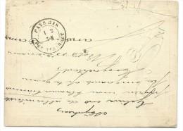 Ep Hollande 5c bleu de TILBURG/1878 avec au dos C�d passage PAYS-BAS/ PAR TURNHOUT  RRR