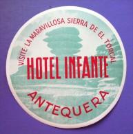 HOTEL PENSION HOSTAL RESIDENCIA INFANTE ANTEQUERA MALAGA SPAIN LUGGAGE LABEL ETIQUETTE AUFKLEBER DECAL STICKER Madrid - Adesivi Di Alberghi