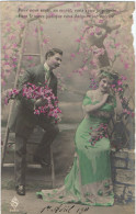 """"""" Pour Vous Seule,en Secret, Sans Cesse Je Soupire, Vous Le Savez Puisque Vous Daignez Me Sourire"""". - 1911 - - Couples"""
