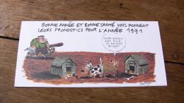 CARTE DE VOEUX VUILLEMIN Echo Des Savanes Albin Michel 1991 - Cartes Postales