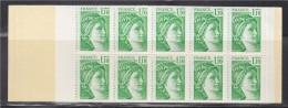 = Sabine De Gandon Carnet  N°2058-C1a Neuf Ouvert  20 Timbres 1f10 Vert Le Code Postal - Carnets