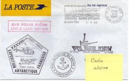 """Flamme Illustrée LE HAVRE PORT 3/05/1988 Sur PLI DE SERVICE  LA POSTE - M/S """"POLARBJORN"""" TERRE ADELIE - Postmark Collection (Covers)"""