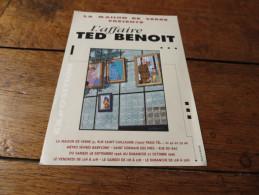 FLYER EXPOSITION L'AFFAIRE TED BENOIT La Maison De Verre - Livres, BD, Revues