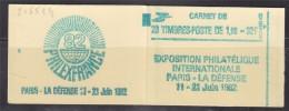 = Sabine De Gandon Carnet 2155-C4 Neuf Ouvert 20 Timbres 1f60 Rouge Exposition Philatélique Philexfrance82 Numéroté 549 - Usage Courant