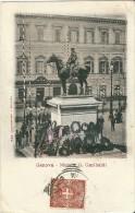 GENOVA - MONUMENTO A G. GARIBALDI. - F/P -E - V - I - Animata - Genova (Genoa)