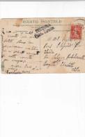 FRANCIA  1921 - Cartolina A Colori Per Saluzzo/Pontechianalle/Borggutta/Ebastello (scritta BOLOGNA POSTA ESTERA) - Storia Postale