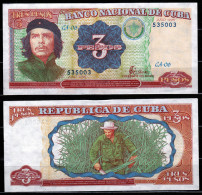 CUBA : Banconota  3 Pesos  1995  - UNC