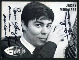 Jacky MOULIERE Avec Autographe Original - Musique Et Musiciens