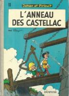"""JOHAN ET PIRLOUIT """" L'ANNEAU DES CASTELLAC """"  -  PEYO  - Dos Rond  E.O.  1974  DUPUIS - Johan Et Pirlouit"""