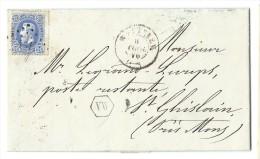 L. affr. N�31 Lpts WETTEREN /1870 + bo�te auxiliaire VW pour Mons