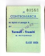 Termoli Tremiti CONTROMARCA 1961 - Transporto