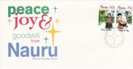 Nauru 1995 Christmas FDC - Nauru