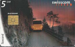 Telefoonkaart - Zwitserland. Swiss Telecom. Taxcard. CHF 5. Was die Schweiz verbindet. foto: Michel Jaussi.