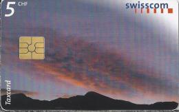 Telefoonkaart - Zwitserland. Swiss Telecom. Taxcard. CHF 5. Scimfuss.. foto: Jean Odermatt.