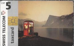 Telefoonkaart - Zwitserland. Swiss Telecom. Taxcard. CHF 5. Telefooncel 2 Scans - Zwitserland