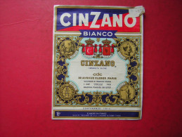 ETIQUETTE  CINZANO BIANCO   VERMOUTH SUCRE    16 ° - Autres