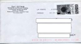 Lettre Flamme Chiffree Timbre à Moi Theme Tournesol - Poststempel (Briefe)