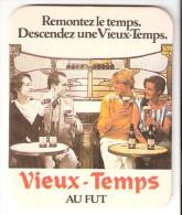 """Sous-Bock-Carton Bière """"Vieux-Temps""""- Remontez Le Temps Descendez Une Vieux Temps - Sous-bocks"""