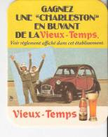 """Sous-Bock-Carton Bière """"Vieux-Temps""""- Gagnez Une Citoën 2 CV """"Charleston"""" .... - Bierviltjes"""