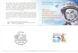 2003. Russia, Space, V. Tereschkova, First Woman-Cosmonaut, Booklet-folder, Mint/** - Space