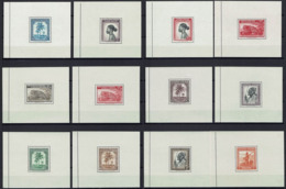 "Belgian Congo & Ruanda-Urundi - 12 S/S - Full Set - Sheet ""Message"" - MNH - Blocks & Sheetlets"