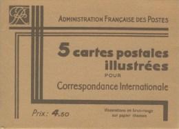S�rie PARIS couleur brun-rouge sur carton chamois avec R�publique Fran�aise NEUVE TTB avec pochette N� STORCH : COME2S3
