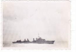 photo originale batiment militaire contre torpilleur vauquelin convoi atlantique 1939