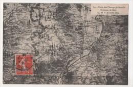 Environs De METZ - Carte Des Champs De Bataille - 14, 16 Et 18 Août 1870 - Metz