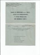 DOCUMENTS S.N.C.F -LOT 14 Enveloppes Prévus Pour La Caisse De Prévoyance à Marseille Net   -  1.50 - Transports