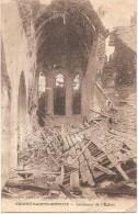 Dépt 02 - ORIGNY-SAINTE-BENOÎTE - Intérieur De L'Église - (ruines) - Altri Comuni