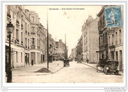 CPA 02 SOISSONS / RUE SAINT CHRISTOPHE / 1927 - Soissons