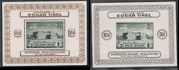 Année 1954 - COB PR121 à PR122**  - 100 Ans Edgard Tinel (BL13 Et BL14) - Cote 18,00 € - Privées & Locales
