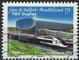 France 2014 Oblitéré Used Trains Gare De Belfort Montbéliard TGV Duplex Y&T 1010 - Usati