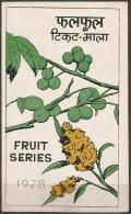 Nepal - 1978 Fruit Series FD Folder   SG 368-70  Sc 352-4 - Nepal