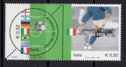 ITALY  2002 WORLD CUP MNH - 2002 – Südkorea / Japan