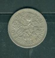 Great Britan 6 Penc 1956  - Pia7808 - 1816-1901: 19. Jh.