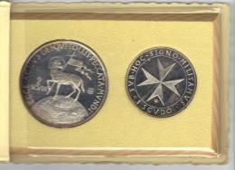 ZZ - SMOM Ordine Di Malta 1972 : Dittico 1 Scudo Più 2 Scudi - Malta, Sovr. Mil. Ordine Di