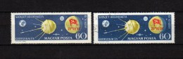 Hungary 1959 Space Stamp With Overprint MNH + Used - Space