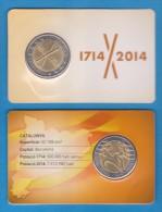 """VERY RARE!!!  CATALUNYA (Republic Of CATALONIA) Set 2 € 2.014 Conmemorative """"TRICENTENARI""""  SC/UNC  T-DL-11.058 - Espagne"""
