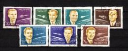 Hungary 1962 Space Gagarin Glenn Etc. Set Of 7 Used - Space
